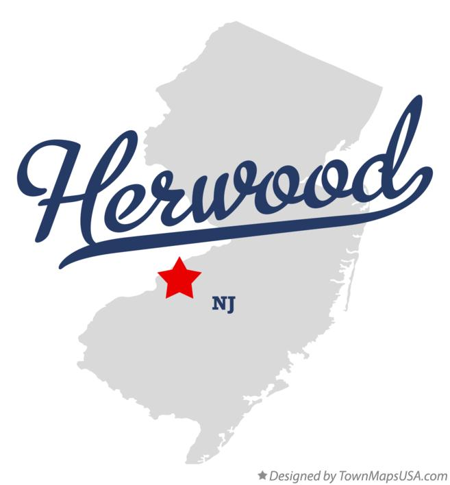 Map of Herwood New Jersey NJ