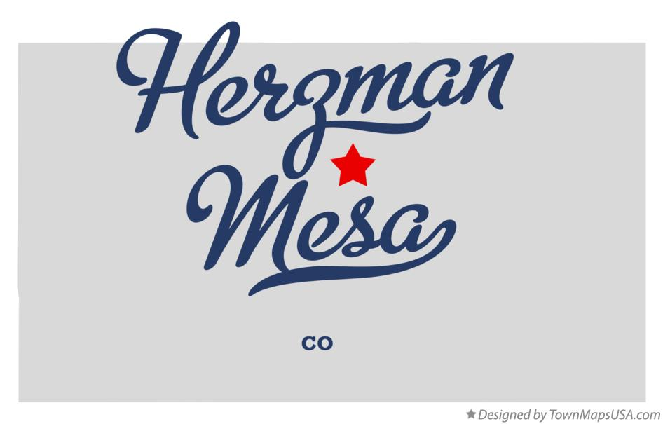 Map of Herzman Mesa Colorado CO