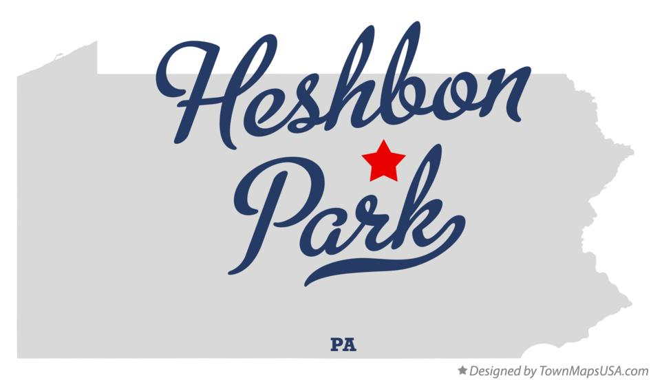 Map of Heshbon Park Pennsylvania PA