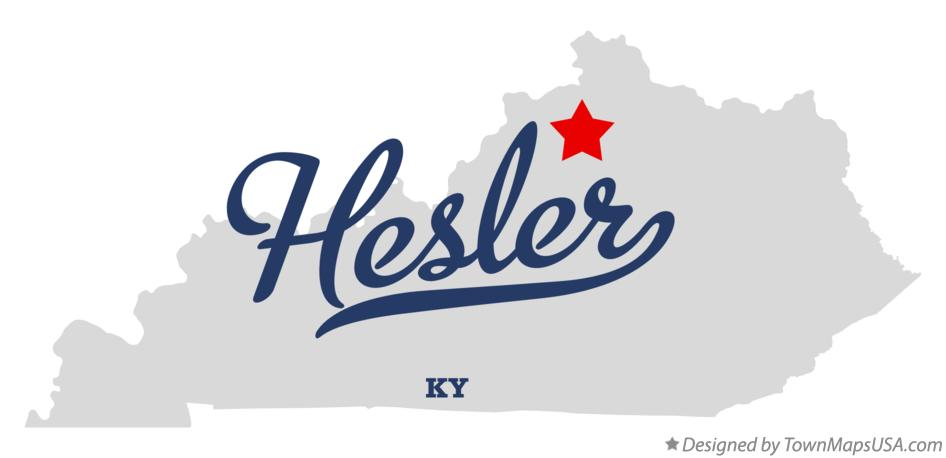 Map of Hesler Kentucky KY