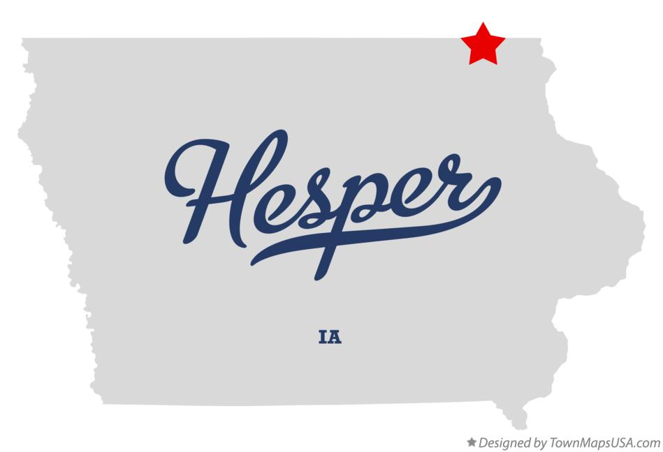 Map of Hesper Iowa IA