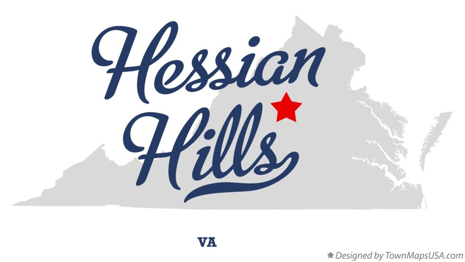 Map of Hessian Hills Virginia VA