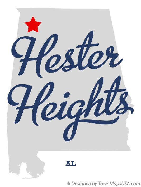 Map of Hester Heights Alabama AL