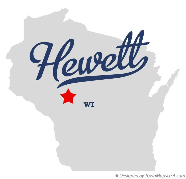 Map of Hewett Wisconsin WI