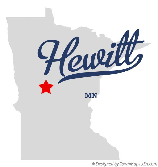 Map of Hewitt Minnesota MN