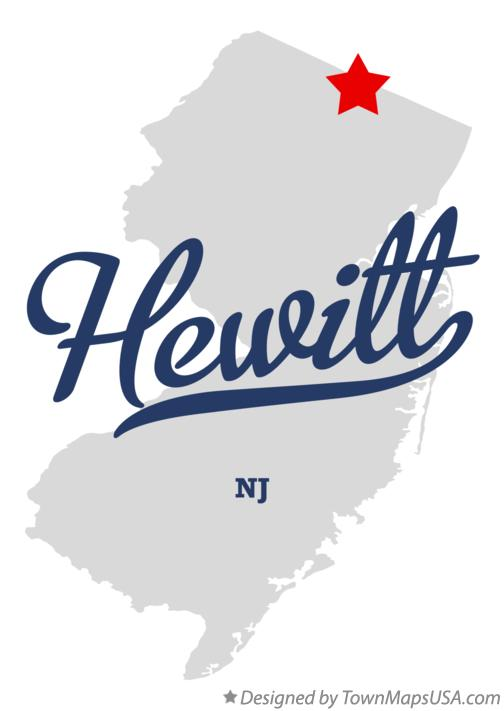Map of Hewitt New Jersey NJ