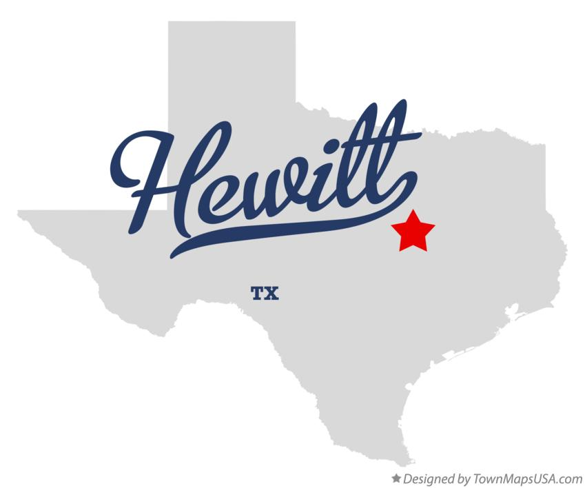 Map of Hewitt Texas TX