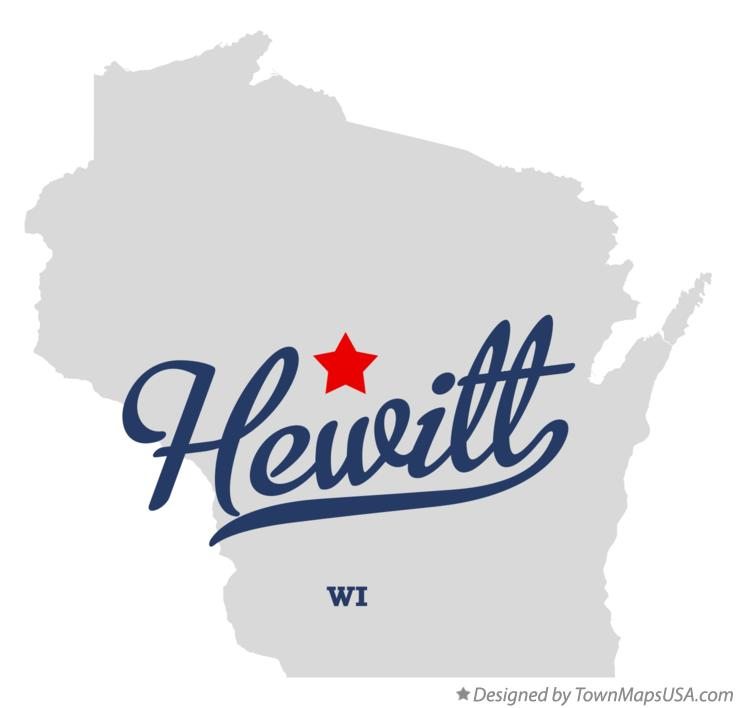 Map of Hewitt Wisconsin WI