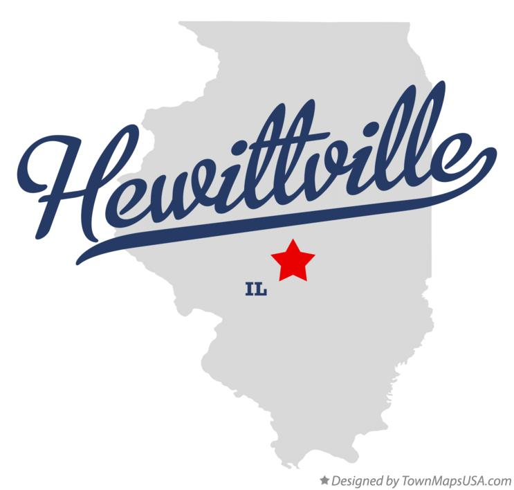 Map of Hewittville Illinois IL
