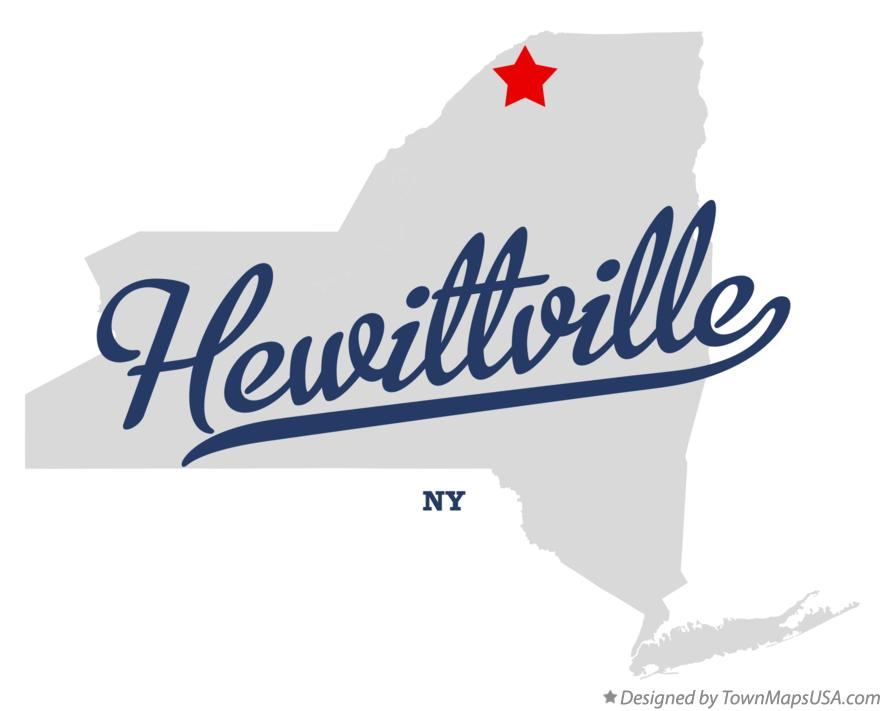 Map of Hewittville New York NY