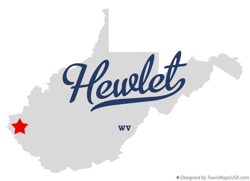 Map of Hewlet West Virginia WV