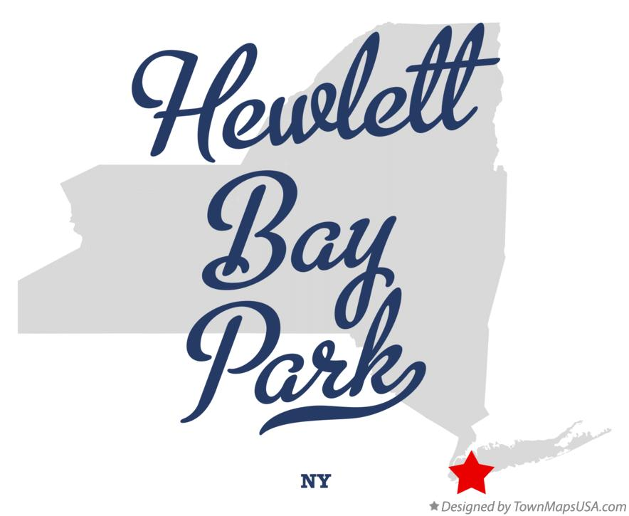 Map of Hewlett Bay Park New York NY