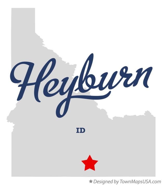 Map of Heyburn Idaho ID