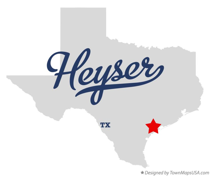 Map of Heyser Texas TX