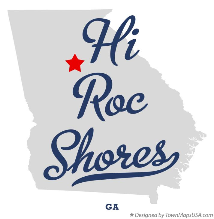 Map of Hi Roc Shores Georgia GA