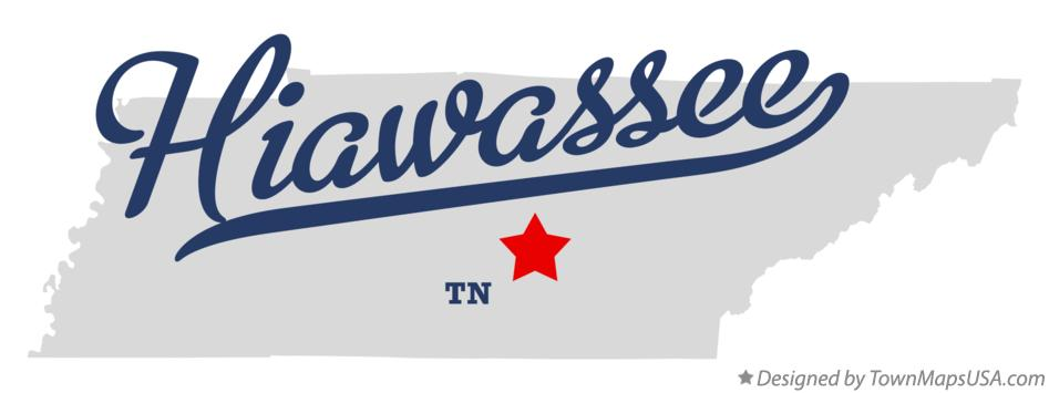 Map of Hiawassee Tennessee TN