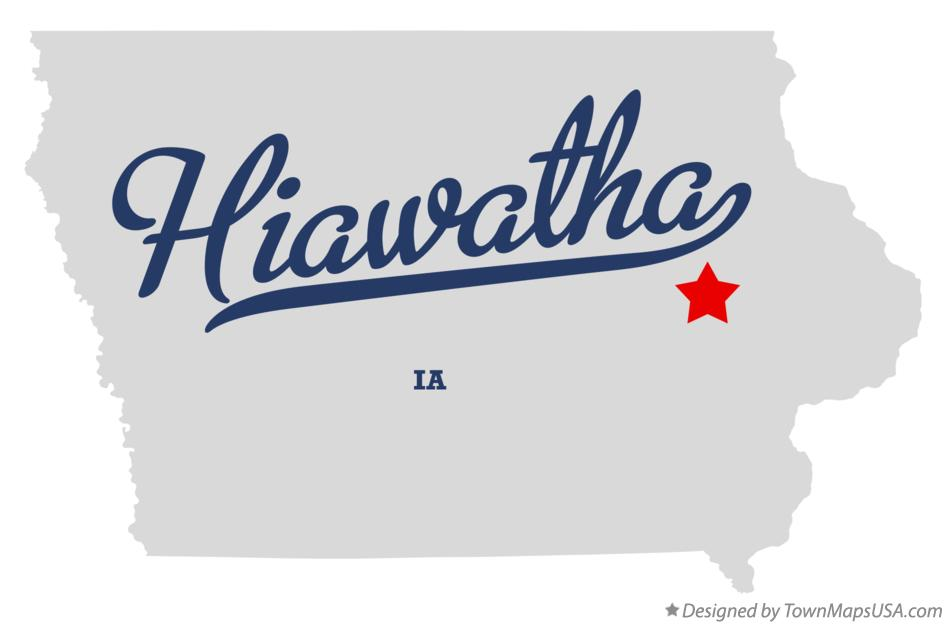 Hiawatha (IA) United States  city pictures gallery : Map of Hiawatha, IA, Iowa