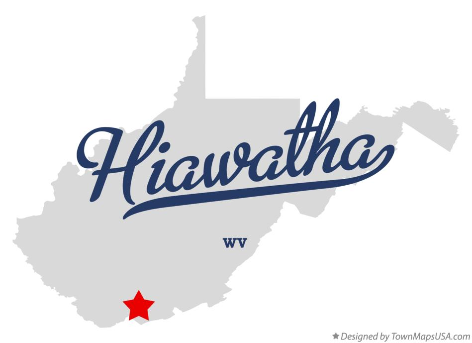 Map of Hiawatha West Virginia WV