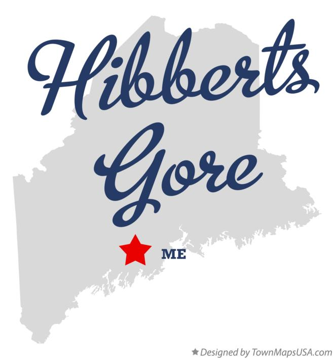 Map of Hibberts Gore Maine ME