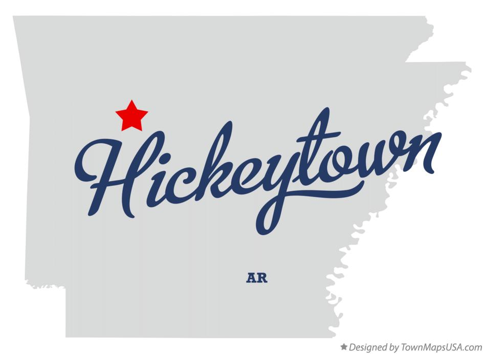 Map of Hickeytown Arkansas AR