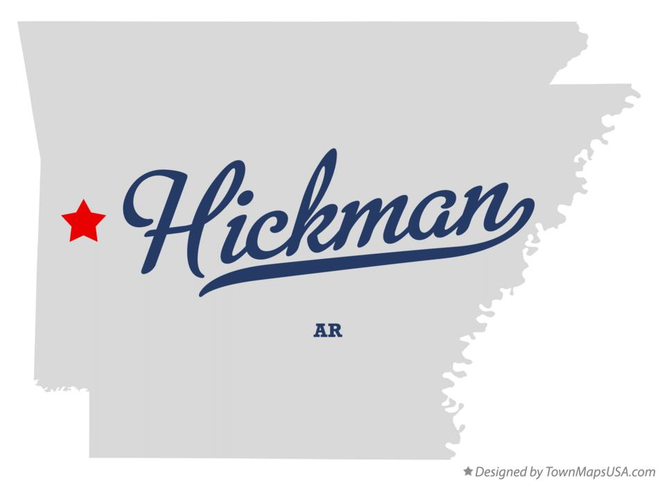 Map of Hickman Arkansas AR