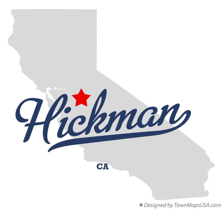 Map of Hickman California CA