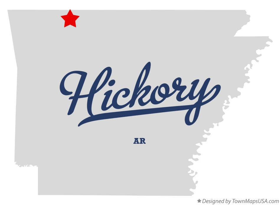Map of Hickory Arkansas AR