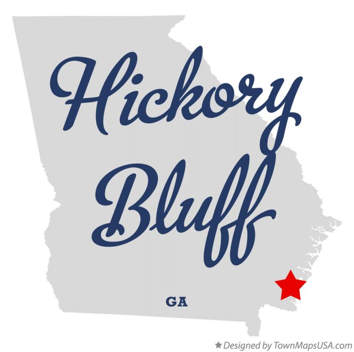 Map of Hickory Bluff Georgia GA