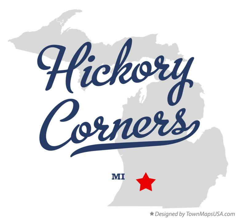 Map of Hickory Corners Michigan MI