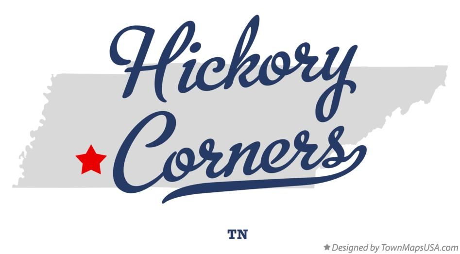 Map of Hickory Corners Tennessee TN