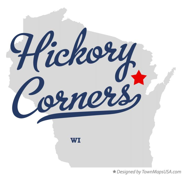Map of Hickory Corners Wisconsin WI