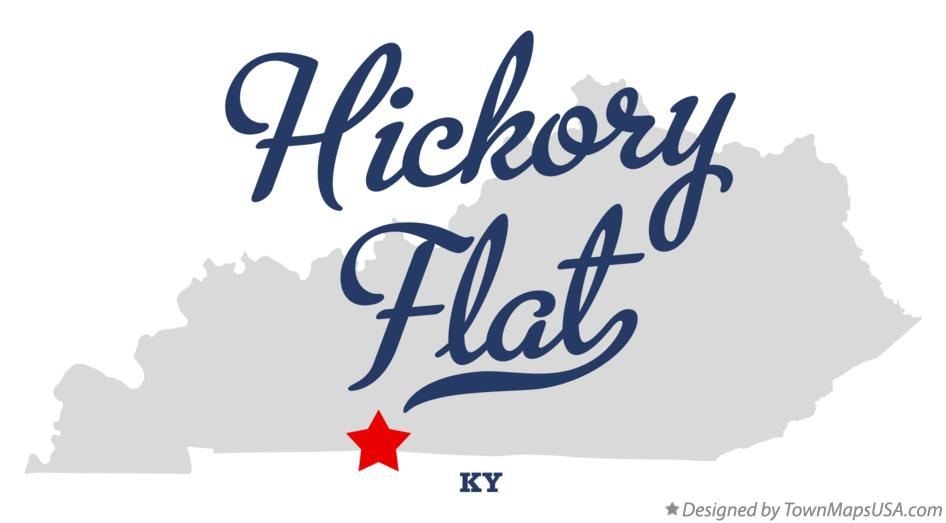 Map of Hickory Flat Kentucky KY