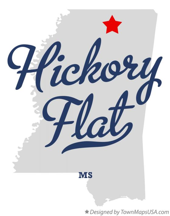 Map of Hickory Flat Mississippi MS