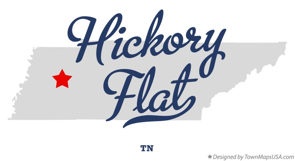 Map of Hickory Flat Tennessee TN