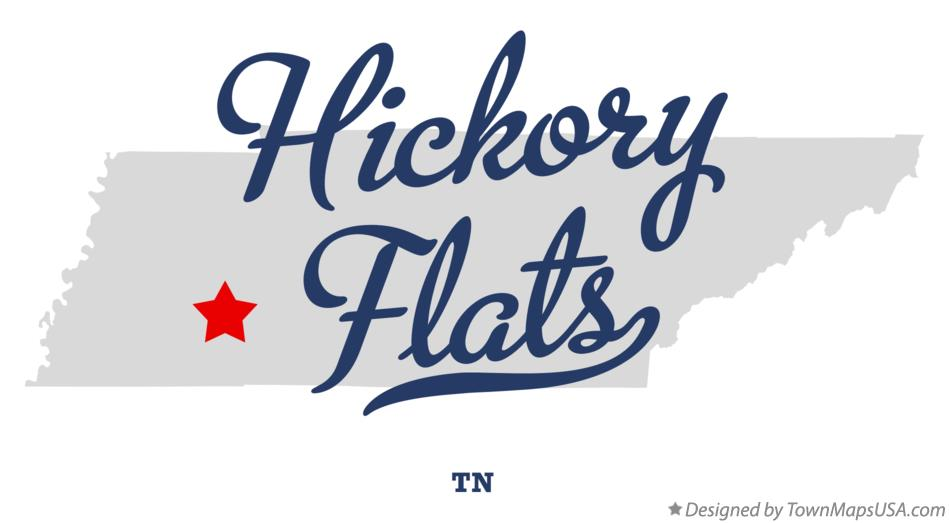 Map of Hickory Flats Tennessee TN