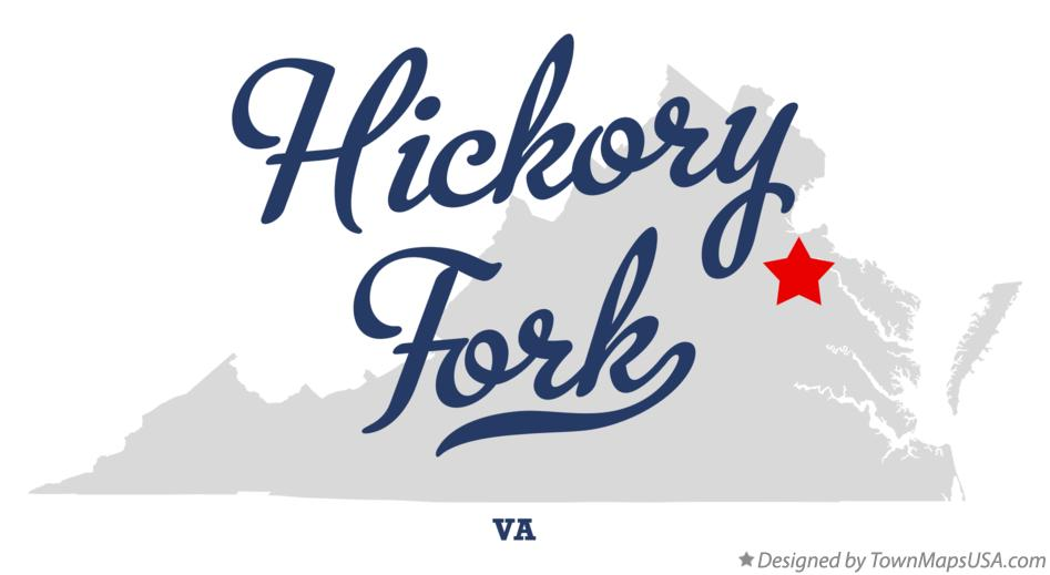 Map of Hickory Fork Virginia VA