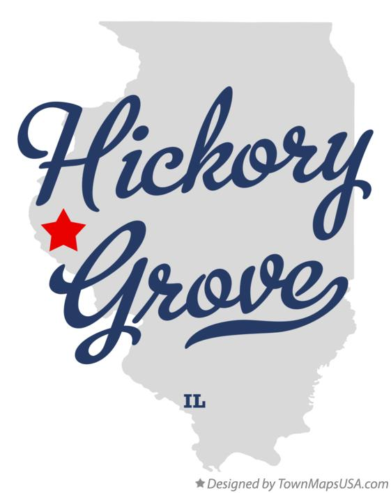 Map of Hickory Grove Illinois IL