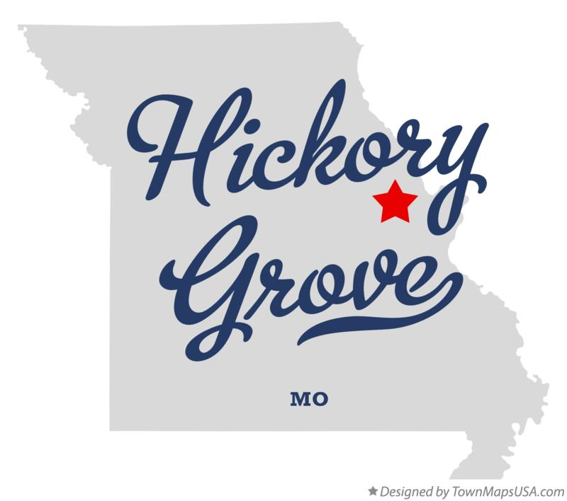 Map of Hickory Grove Missouri MO