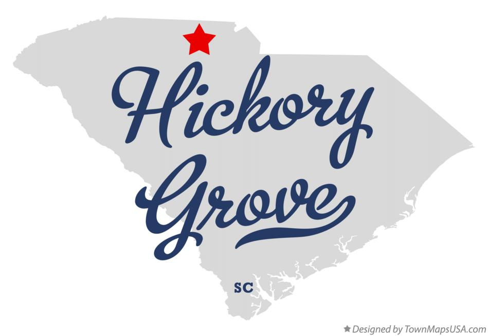 Map of Hickory Grove South Carolina SC