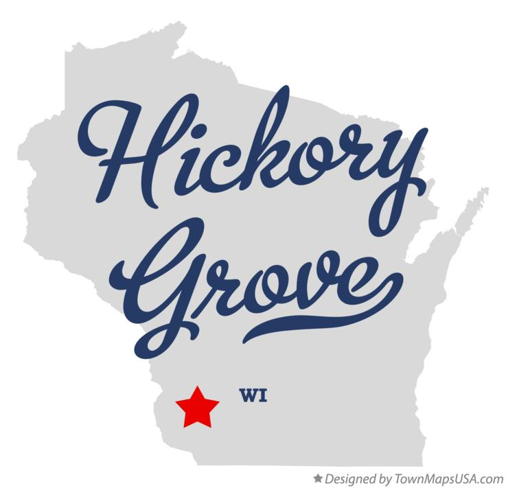 Map of Hickory Grove Wisconsin WI