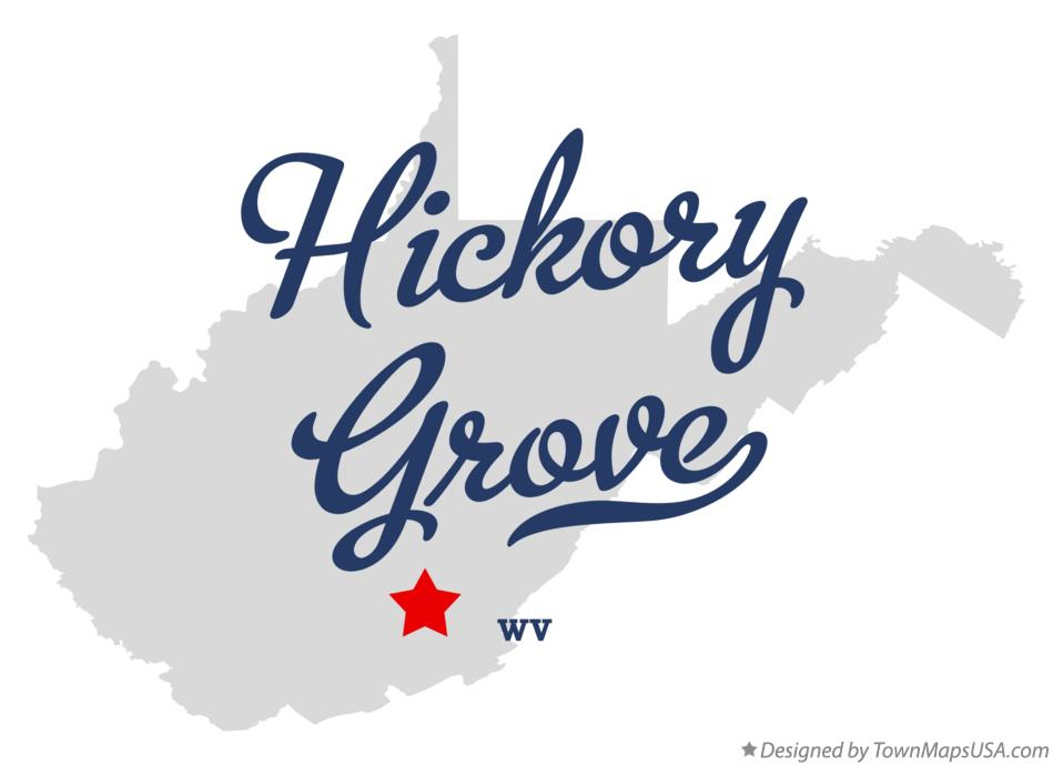 Map of Hickory Grove West Virginia WV