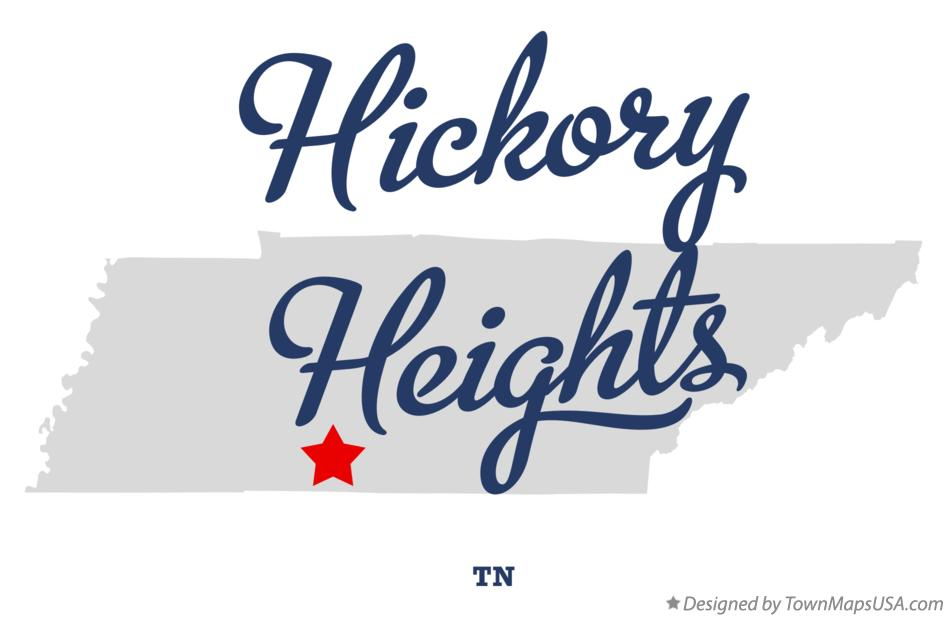 Map of Hickory Heights Tennessee TN