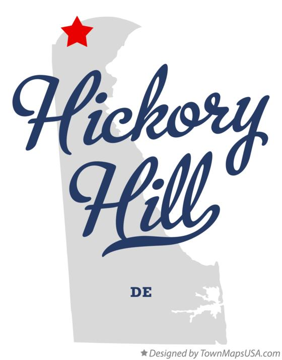Map of Hickory Hill Delaware DE