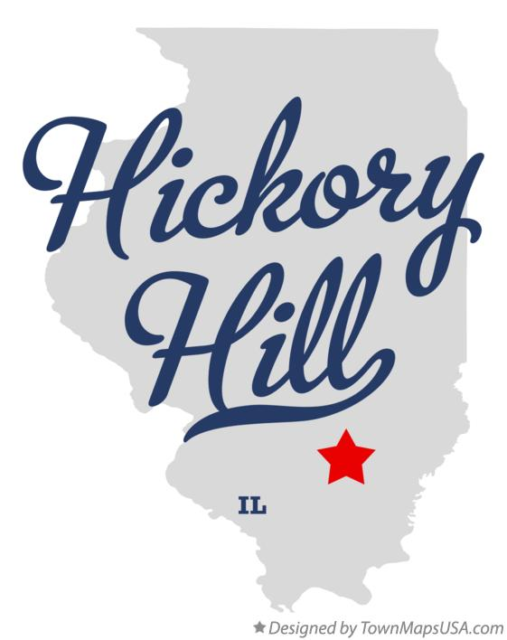 Map of Hickory Hill Illinois IL