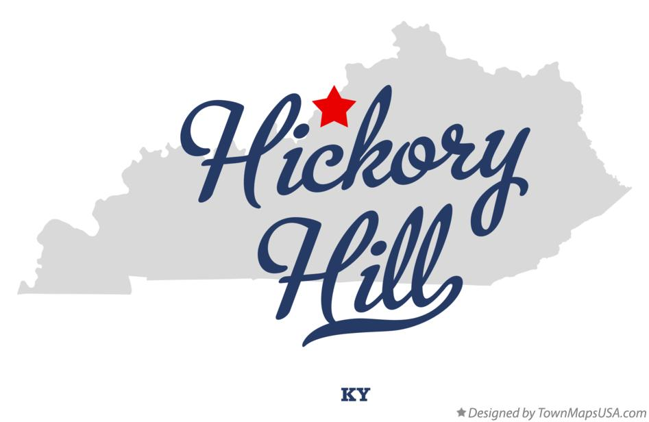 Map of Hickory Hill Kentucky KY