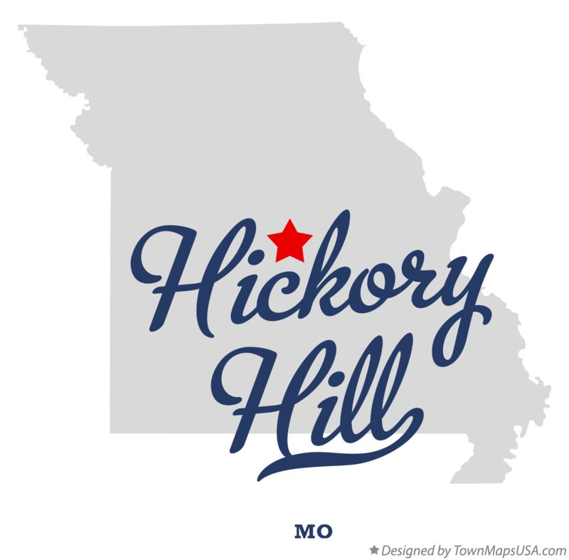Map of Hickory Hill Missouri MO