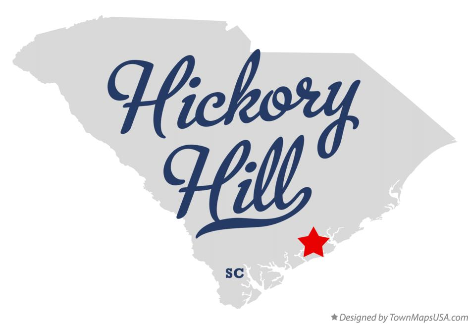 Map of Hickory Hill South Carolina SC