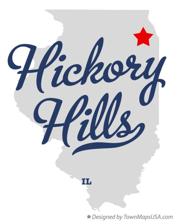 Map of Hickory Hills Illinois IL