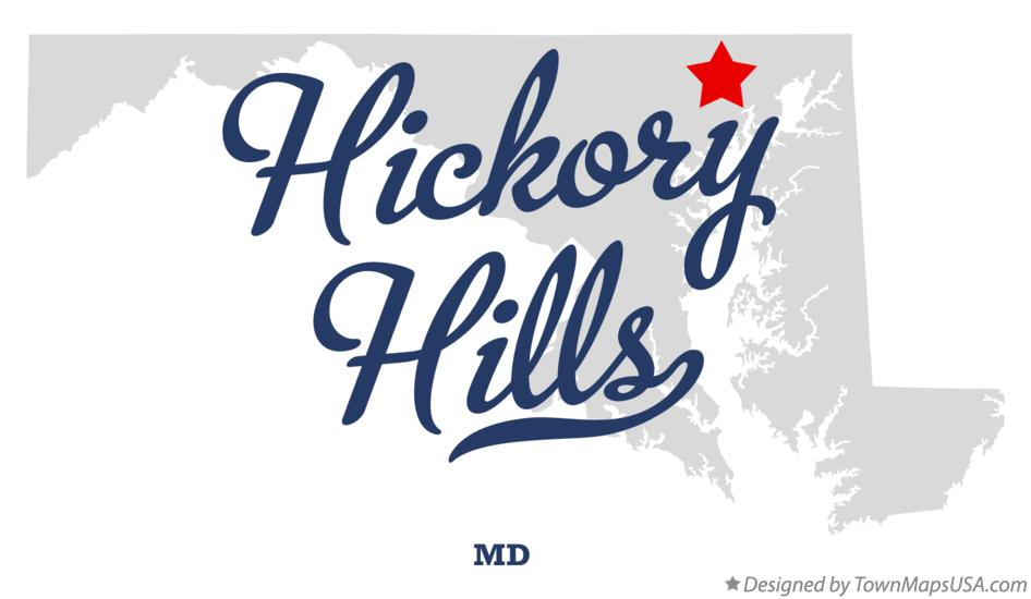 Map of Hickory Hills Maryland MD