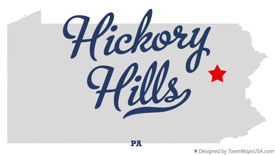 Map of Hickory Hills Pennsylvania PA